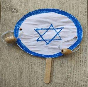 כלי הקשה לילדים בצורת דגל ישראל